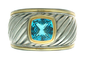 David Yurman Blue Topaz Cuff