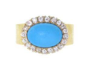 Renee Lewis Turquoise and Diamond Ring