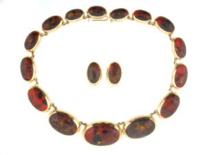 Suite of Amber Jewelry