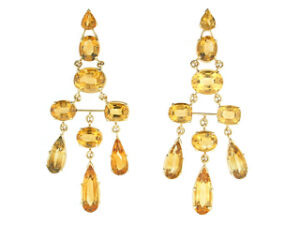 Citrine Chandelier Earrings