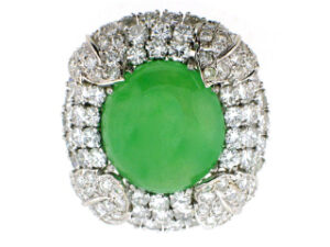 Jadeite and Diamond Ring