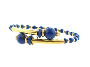 Lapis Lazuli and Gold Bangle