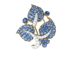 Van Cleef and Arpels Sapphire and Diamond Brooch
