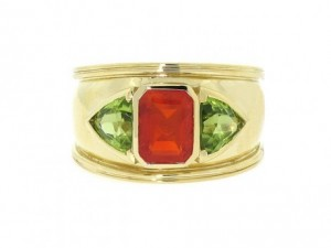 Theo Fennel Fire Opal Bombe Ring
