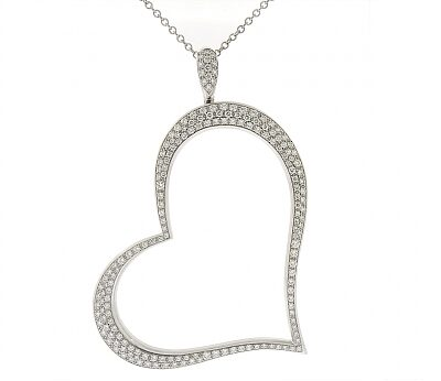 Piaget Large Diamond Heart Pendant