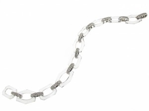 Art Deco Cartier Diamond and Crystal Bracelet