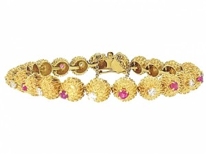 Vintage Tiffany and Co Ruby and Diamond Bracelet