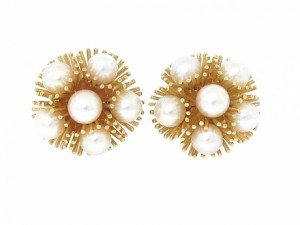 Vintage MidCentury Cultured Pearl Earrings