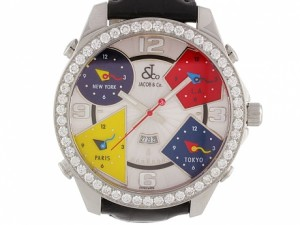 Jacob and Co Five Timezone Diamond Watch