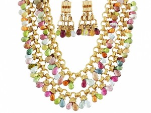 Laura Munder Multi-Gemstone Necklace and Earrings