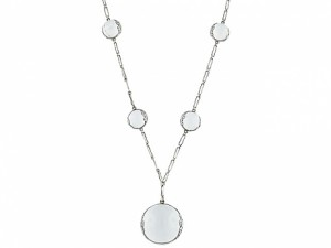 Art Deco Pools of Light Rock Crystal Necklace