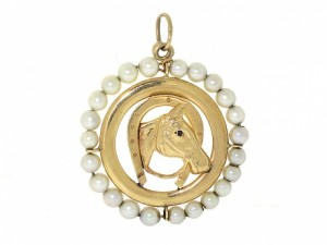 Horse Charm with Pearls