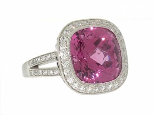Tiffany and Co Pink Spinel and Diamond Ring
