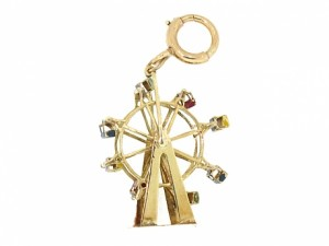 Movable Enameled Ferris Wheel Charm