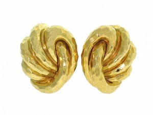 Henry Dunay Facets Earrings in 18K Yellow Gold