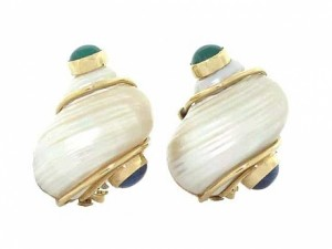 Vintage Seaman Schepps Shell Earrings