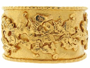 Jean Mahie Charming Monsters Cuff in 22K