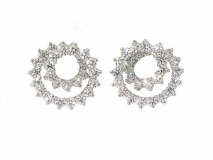 Tiffany and Co. Diamond Swirl Earrings in Platinum
