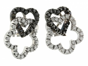 Black and White Diamond Earrings in 18K