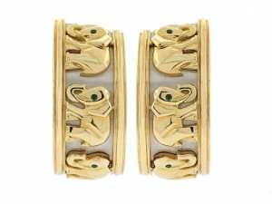 Cartier Walking Elephant Earrings
