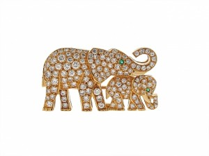Cartier Diamond Elephant Brooch