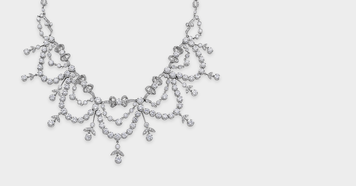 Mid-Century Diamond Garland Necklace