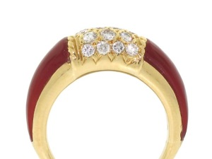 Van Cleef and Arpels Carnelian and Diamond Ring