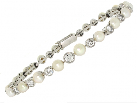 The Look for Less – Classic Pearl and Diamond Bracelets