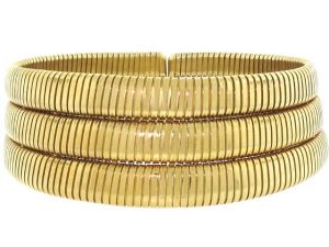 Tallarico Tubogas Collar Necklace in 18K