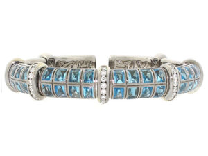 Avakian Aquamarine and Diamond Bracelet