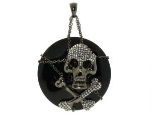 Sue Gragg Skull and Crossbones Pendant
