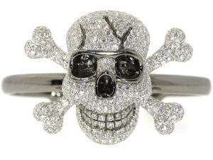 Sue Gragg Diamond Skull Bracelet