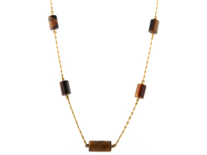 David Webb Tiger's Eye Station Necklace