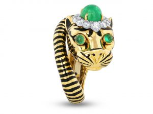 David Webb Tiger Ring