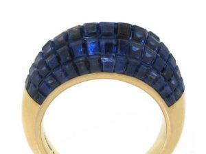 Van Cleef and Arpels Mystery Set Sapphire Boulle Ring