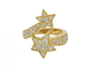 Chanel 'Comète' Star Diamond Ring in 18K Gold for sale on Beladora.com