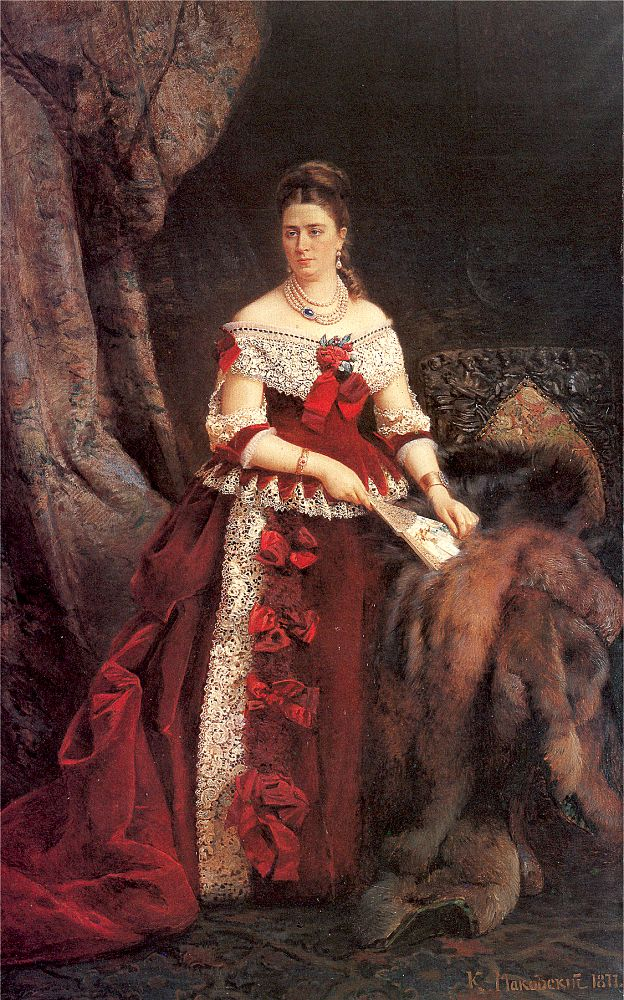 Countess Zubova with Pearls