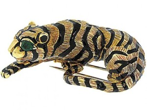 David Webb Tiger Brooch