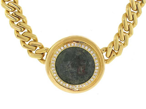 Fred Paris for Tallarico Ancient Coin Gold Necklace 503397-500