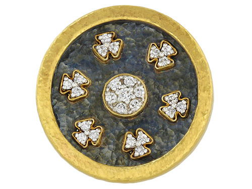 Gurhan Diamond Silver and Gold Ring 506301-500