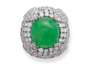Natural Color Jadeite Jade Ring