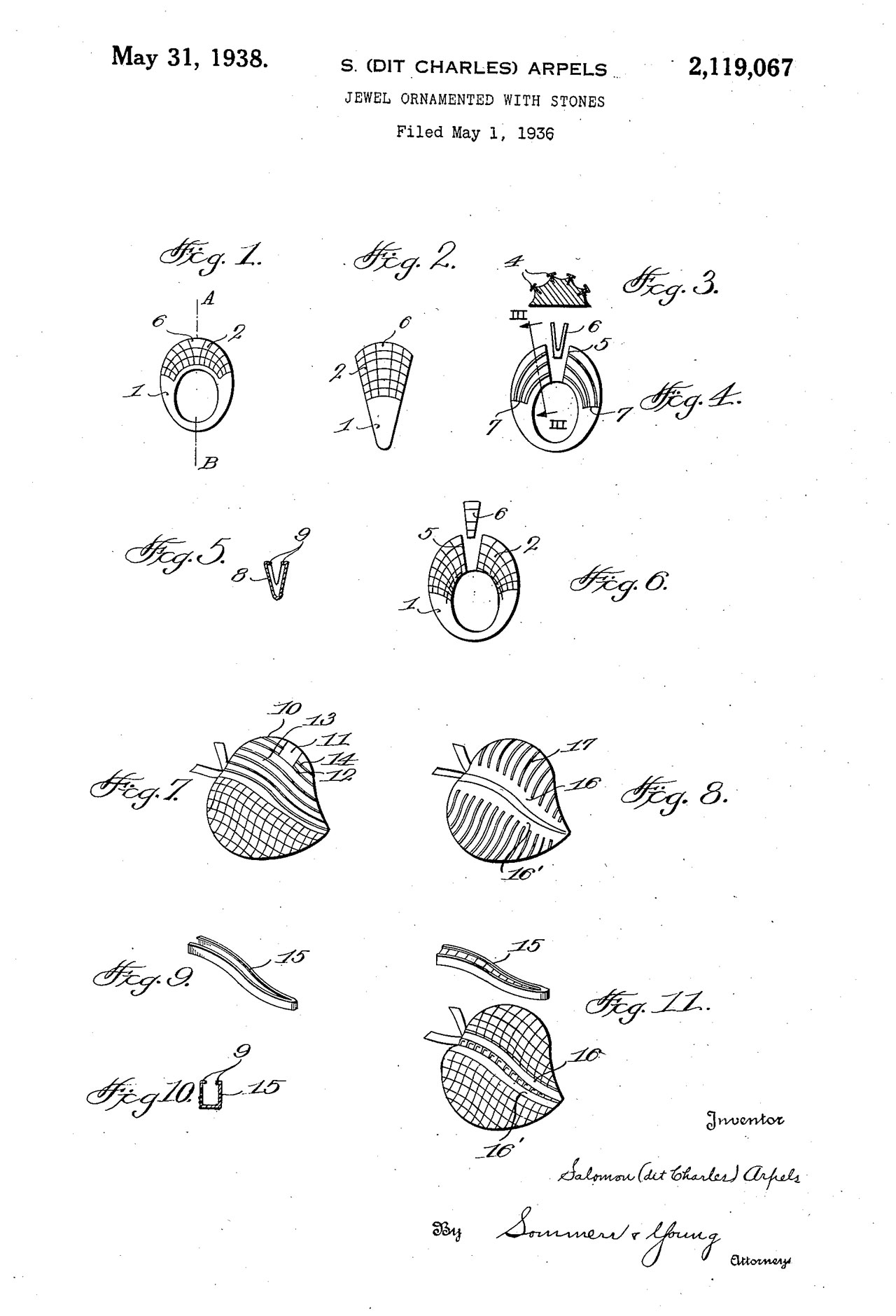 Charles Arpels May 1938 Patent