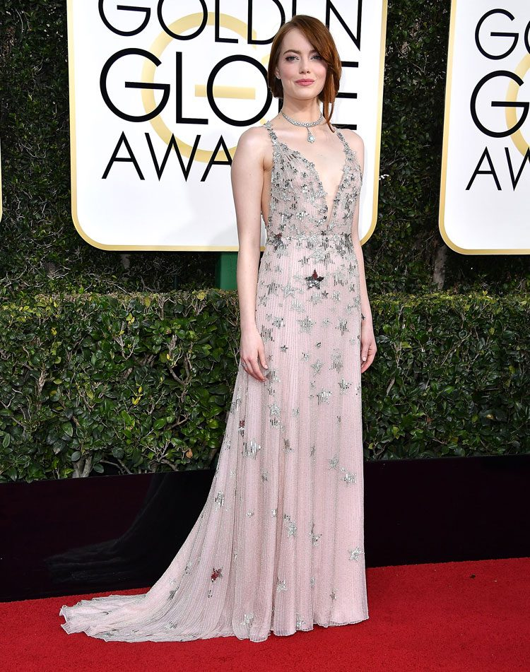 Golden Globes Style: Emma Stone, Aaron Taylor-Johnson and more