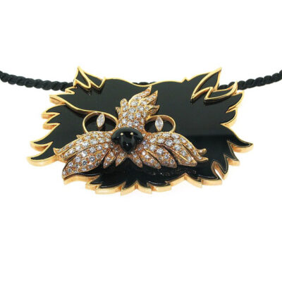 graff cat diamond pendant necklace
