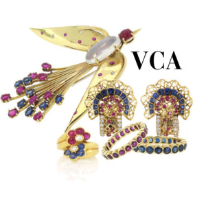 Van Cleef and Arpels Sapphire, Ruby and Diamond Jewelry