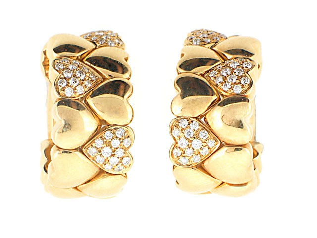 Cartier Diamond Heart Earrings in 18K