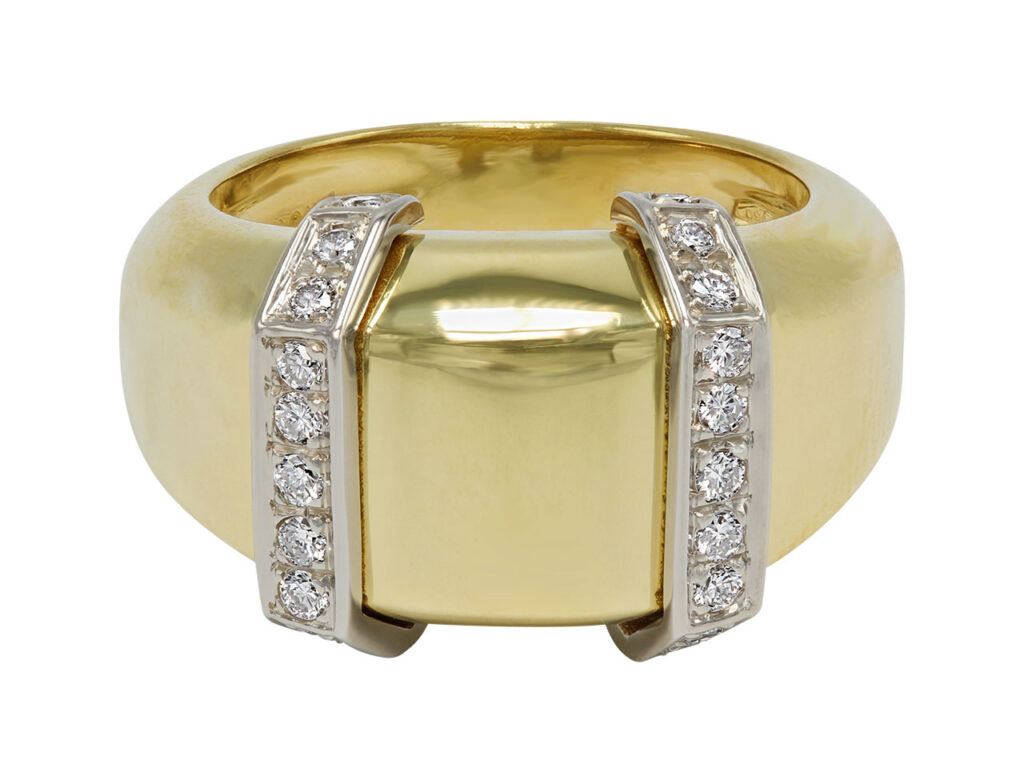 Faraone 18K Yellow Gold and Diamond Ring