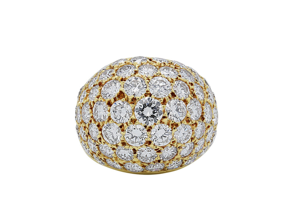 Van Cleef & Arpels Diamond Boule Ring in 18K